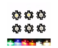 1W High Power LED PCB Bulb Beads Chips Car Indoor Reading Lamp Aquarium Heat Sink
