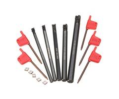 5pcs SCLCR 6/7/8/10/12mm Lathe Boring Bar Tunring Tool With 5pcs CCMT0602 Insert