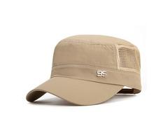 Mens Plain Quick-dry Snapback Flat Baseball Caps Adjustable Outdoor Sport Hip-Hop Hats