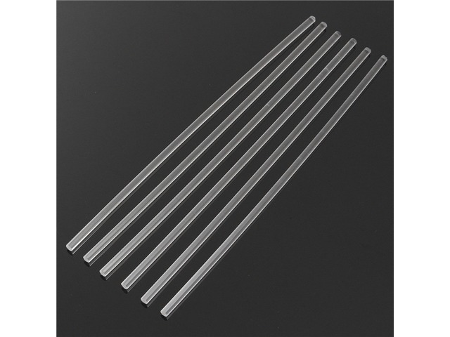 6Pcs 300×6mm Transparent Acrylic Round Rod Solid Rod | Free-Classifieds.co.uk