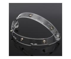 1PC 23X4.5CM Flip up Clear Lens Shield Visor For Motorcycle Open Face Helmet 3 Buckles