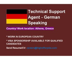 German Speaking Tech Support Agent for Greece - VISA SPONSORSHIP