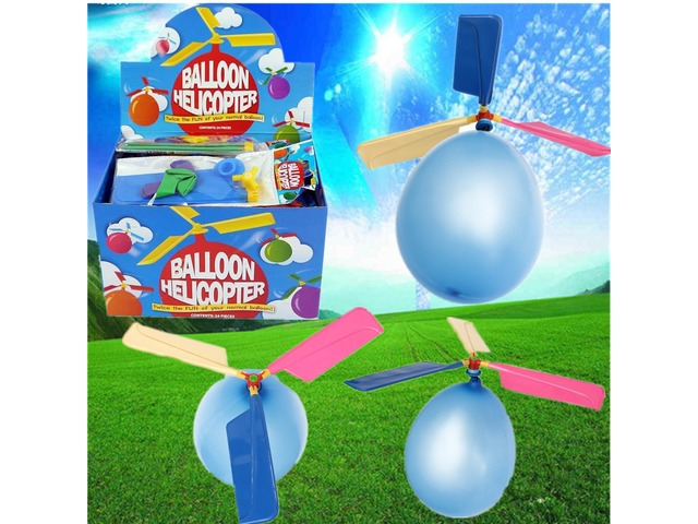20X Colorful Traditional Classic Balloon Helicopter Portable Flying Toy | free-classifieds.co.uk
