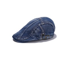 Unisex Men Women Denim Jeans Washed Newsboy Beret Hat