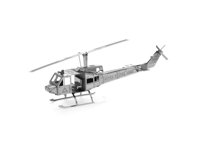 Aipin DIY 3D Puzzle Stainless Steel Model Kit Helicopter Silver Color | Free-Classifieds.co.uk