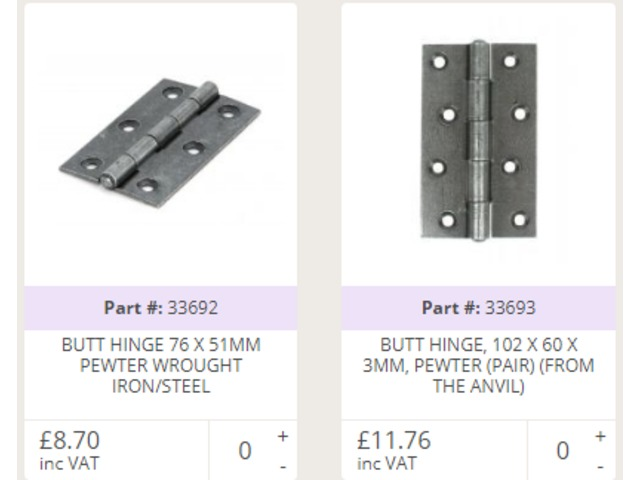 Buy Door Hinges Online At Best Price   Handles4U   free-classifieds.co.uk