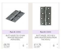 Buy Door Hinges Online At Best Price | Handles4U