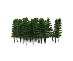 20pcs 1:100 Fir Trees Model Train Road Green Street Park Garden Scenery HO OO N