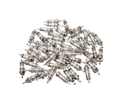 50Pcs Car AC Air Condition Valve Core Schrader Valves White for R134A