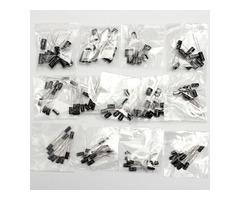 Total 130Pcs 13 Values Each 10Pcs 0.1uf-470uf Electrolytic Capacitor Assortment Set
