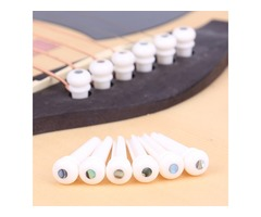 Cattle Bone Guitar Parts Endpin with Abalone Dot Bridge End Pin for Acoustic Guitar