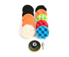 11pcs 3/5/6/7 Inch Waffle Buffer Polishing Pad Set For Car Polisher