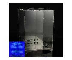 Transparent Acrylic Module Case Housing For 8x8x8 3D Light Cube Kit
