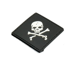 6X6cm Black Slull 3D Tactical Army Morale PVC Rubber Patch