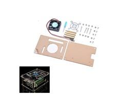 Geekcreit® Transparent Acrylic Case + Cooling System External Fan + Screwdriver Tool For Raspberry P