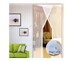 2pcs 31x83 Inch DIY Window Door Anti Mosquito Pest Curtain Net Mesh Sheer Curtain Protector