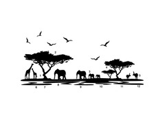 African Elephant Animals Wall Stickers Black Mural Home Decal Removable Art Vinyl Room Decor DIY | FreeAds.info