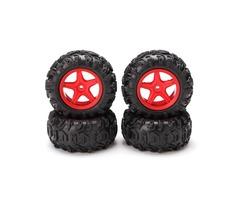SUBOTECH 1/24 CJ0014+CJ00015 Left Right Wheel Rim Tire Car Part For BG1510ABCD