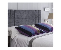 Double chenille headboard
