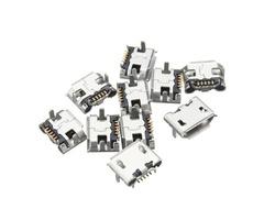 10PCS Micro USB Type B Female 5 Pin Socket PCB Soldering Connector