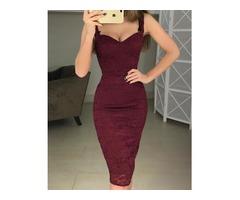 Crochet Lace Bodycon Slip Dress
