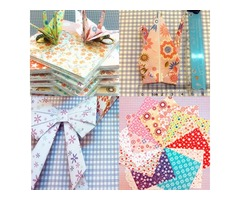 72 Sheets Origami DIY Crane Craft Folding Paper Various Pattern