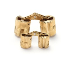 4pcs Round Brass Hinge Invisible Fold Doorway Pages Table Folding Extension