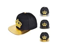 Women Snapback Hats Crown KING Baseball Caps Men Adjustable Hip-hop Hats