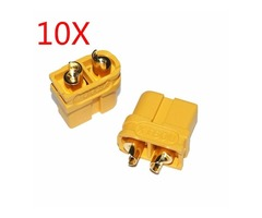 10X Upgraded Amass XT60U Male Female Bullet Connectors Plugs for Lipo Battery 1 Pairs