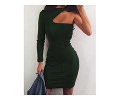 One Long Sleeve Cut Out Party Dress