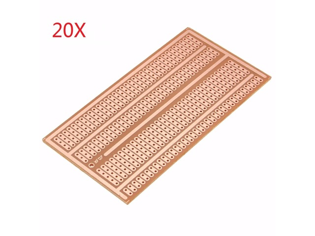 20pcs 5X10cm Single Side Copper Prototype Paper PCB Breadboard 2-3-5 Joint Hole. Features: 1. Standard striboard is great for prototyping and building circuits but it can be time consuming to use with ... | free-classifieds-canada.com