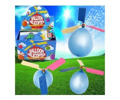 5Pcs Colorful Traditional Classic Balloon Helicopter Portable Flying Toy | free-classifieds.co.uk