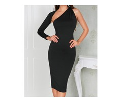 One Sleeve Cut Out Bodycon Dress