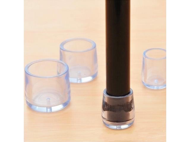 4pcs Transparent Rubber Table Chair Leg Cap Cover Furniture Leg Feet Protector | FreeAds.info