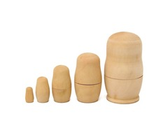 5Pcs Blank Wooden Nesting Dolls Animal Russian Doll Paint Set