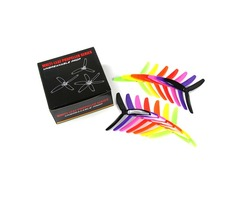 7 Pairs Kingkong / LDARC 5X4X3 5040 5 Inch 3-Blade Rainbow Colorful Propeller CW CCW for RC Drone FP