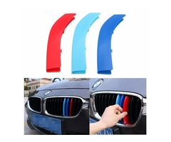 3Pcs Front Kidney Grill Grille M Style Decal 3 Color Buckle For BMW 5 Series 14-15