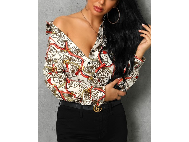 Mixed Print Long Sleeve Blouse | free-classifieds.co.uk