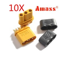 10 Pairs Amass MR30 Connector Plug With Sheath Female & Male