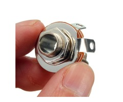 6.35mm Mono Female Plug Audio Microphone Jack Panel Mount Socket Connector
