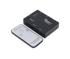 3x1 3 Port 1080P Video HD Switch Switcher Splitter IR Remote For HDTV PS3 DVD
