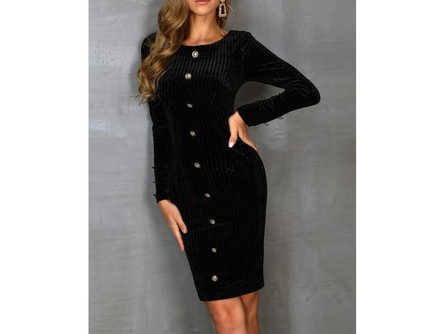 Single Breasted Long Sleeve Dress | free-classifieds.co.uk