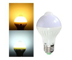 E27/B22 7W Light Control PIR Motion Sensor Lamp Bulb Home Night Light 85-265V