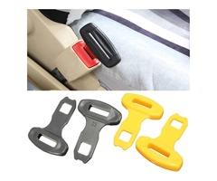 2Pcs Universal Car Safty Seat Belt Buckles Alarm Bleep Stopper Canceller Clip Yellow Black
