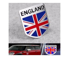 Aluminum England UK Flag Shield Emblem Badge Car Sticker Decal Decor Universal For Truck Auto