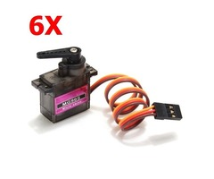 6X MG90S Metal Gear RC Micro Servo