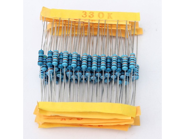 1100 Pcs 0.1 ohm~10M ohm 1/2W Metal Film Resistor 110 Value Box Kit   free-classifieds.co.uk