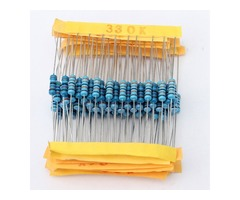 1100 Pcs 0.1 ohm~10M ohm 1/2W Metal Film Resistor 110 Value Box Kit