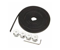 GT2 Aluminium Timing Pulley 20 Teeth M4 Screw 5M Belt For RepRap 3D Printer Prusa CNC
