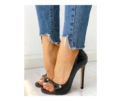 Peep Toe Cutout Thin Heels